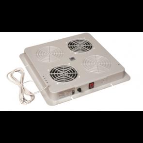 Caisson 2 ventilateurs encastrable sous toit + grille protection doigts 415X415