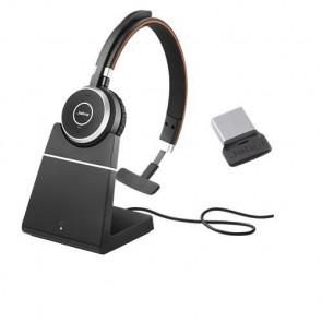 Jabra Evolve 65 UC Mono avec Base Chargeur et Nano Dongle 360 USB