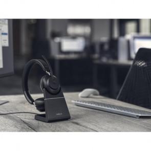 Jabra Evolve2 65. Link380c MS Stereo avec base chargeur. Black