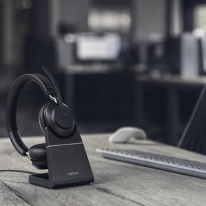 Jabra Evolve2 65. Link380a UC Stereo avec base chargeur. Black