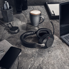 Jabra Evolve2 85. Link380c MS Stereo avec base chargeur. Black