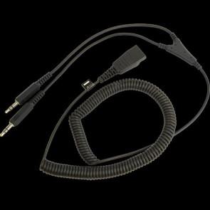 Câble Etiro connexion PC - QD -> 2x3.5 mm - 2 m pour micro-casques filaires
