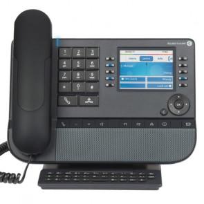 8058s FR Premium Deskphone gris lune. écran couleur. 3.5 po. 320x240. combiné