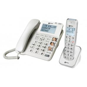 Téléphone DECT AMPLIDECT COMBI 295 - Base Filaire + AMPLIDECT 295 AD BLANC
