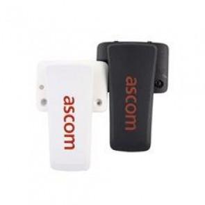 """Pince, clip attache pour mobile DECT DH7 """"d63"""" blanc"""