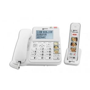 Téléphone DECT AMPLIDECT COMBI-PHOTO 295 - Base Filaire + PhotoDECT 295  BLANC