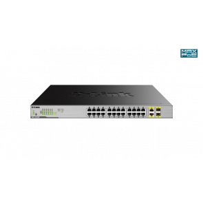 24 ports PoE+ Gigabit + 2 ports combo 1000Base-T/SFP - Budget PoE 370w