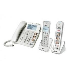 Téléphone DECT Pack SENIOR 295 avec AMPLIDECT COMBI 295 + PhotoDECT 295 BLANC