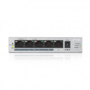 4 ports Gbps RJ45 PoE+ - 1 port Gbps RJ45 - budget PoE 60 W - non rackable -