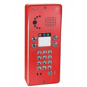 PORTIER SECURACCESS PMR IP CAM CLAVIER 2BT ROUGE