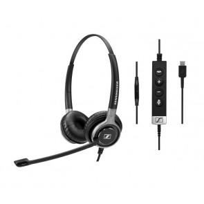 SC 665 USB-C / micro-casque filaire binaural : jack 3.5 mm et USB-C. Contrôle