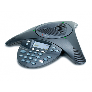 SoundStation2 (analog) conference phone with display. Non-expandable. Includes