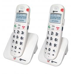 Téléphone Sans Fil DECT  AMPLIDECT 260-2 (Duo - 2 Combinés) BLANC