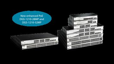 Smart 8 ports Gigabit PoE/PoE+ + 2 ports SFP - PoE 802.3af - Budget PoE 65W -
