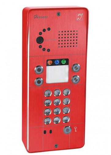PORTIER SECURACCESS PMR IP CAM CLAVIER 2BT ROUGE