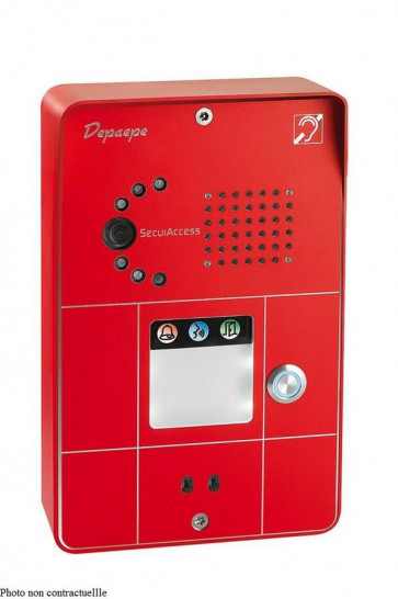 PORTIER SECURACCESS PMR IP CAM COMPACT 2BT ROUGE