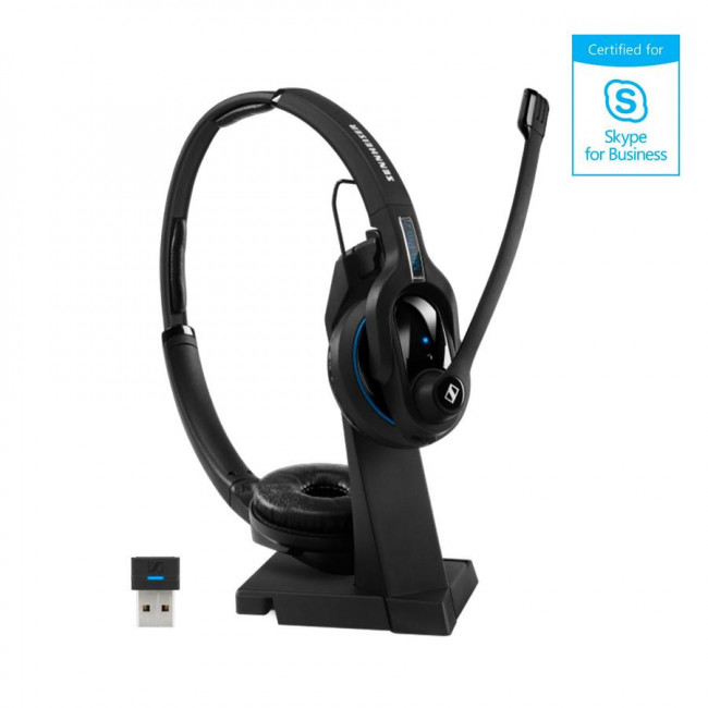 Mb Pro 2 Uc Ml Micro Casque Bluetooth Binaural Avec Support De