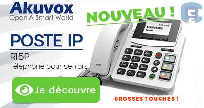 NOUVEAU ! Téléphone IP grosse touche by B&C