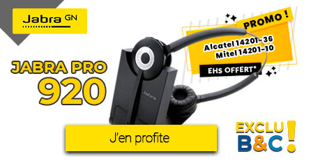 Jabra PRO 920 + EHS Alcatel ou Mitel Offert