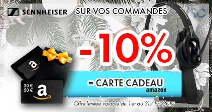 -10% SUR VOS COMMANDES SENNHEISER EN CARTE AMAZON