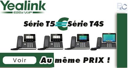 Promo Yealink Acheter la série T5 au même prix que la Série T4S