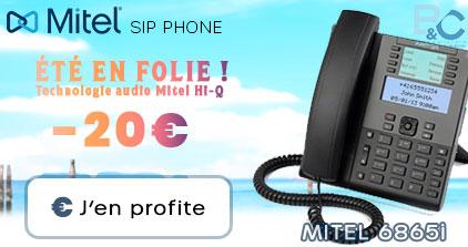 Été en folie ! -20 euros sur le MITEL 6865 SIP Phone