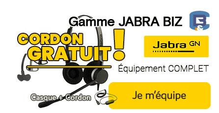 Pack Jabra BIZ et cordon  GRATUIT
