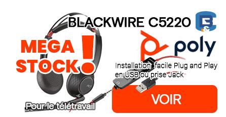 MEGA STOCK C5220 casque idéal pour le télétravail