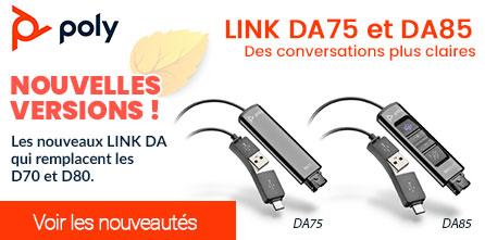 Nouvelles versions LINK DA75/DA85