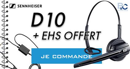 PROMO SENNHEISER D10 + EHS OFFERT