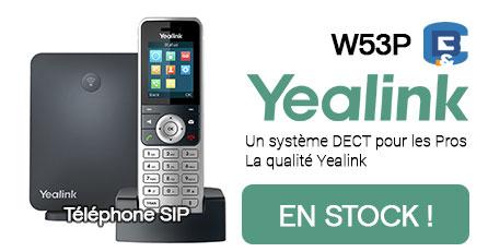 En stock, téléphone SIP Yealink w53p
