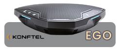 Konftel EGO, petit et portable, se glisse facilement dans un sac.Malgré sa petite taille, il diffuse une expérience audio limpide, grâce à sa technologie audio OmniSound