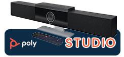 Des performances de pointe pour toutes les petites salles de réunion. Poly Studio offre un son et une vidéo exceptionnels dans une solution vidéo USB USB et Bluetooth. Idéal jusqu'à 8 personnes.