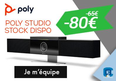 Poly Studio en stock et  Réduction augmentée !
