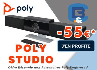 POLY STUDIO REMISE DE 55 EUROS CHEZ B&C