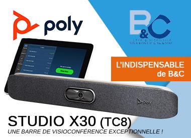 Poly Studio X30 et X50 TC8  NOUVELLE GAMME STUDIO X