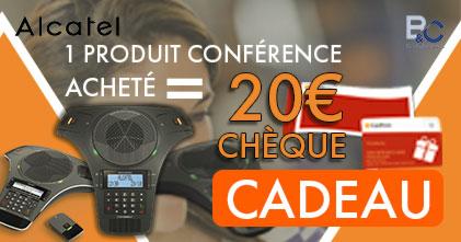 20€ de chèque cadeau pour 1 conférencier Alcatel acheté !