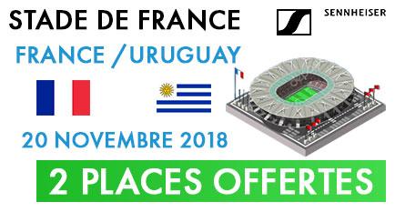 B&C vous offre 2 places pour aller voir le match de football de l'équipe de France le 20 Novembre contre l'Uruguay, pour le meilleur revendeur du mois