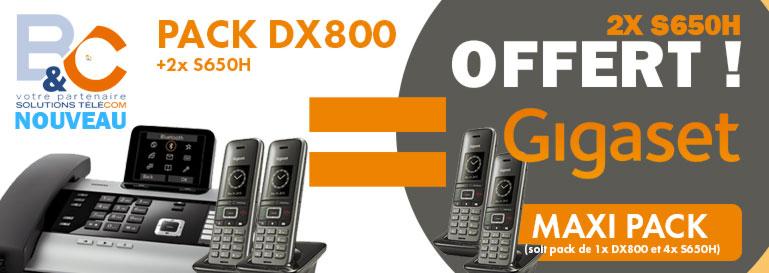 Un pack Complet Spécial GIGASET de 2 téléphones et 1 standard et 2 DECT OFFERTS