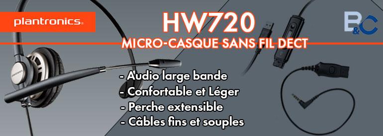 Plantronics HW720, le micro-casque confortable et léger professionnel