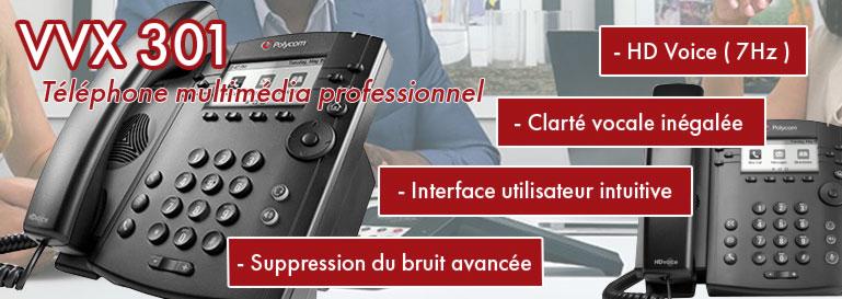 Polycom VVX301, le téléphone multimédia professionnel