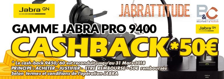 Les modèles éligibles : Jabra Pro 9450 et Jabra Pro 9460 Faites vite votre demande en ligne après votre commande pour en bénéficier.