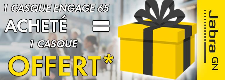 1 JABRA ENGAGE65 = UN CASQUE OFFERT