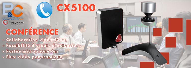 POLYCOM CX5100 - Caméra USB panoramique HD