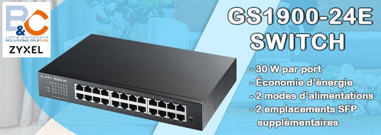 Switch 24 ports 10/100/1000 RJ45 - Rackable - Sans ventilateur