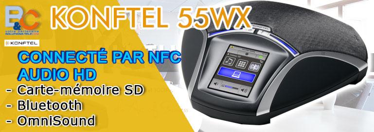 Poste audioconférence sans fil Bluetooth KONFTEL 55 WX
