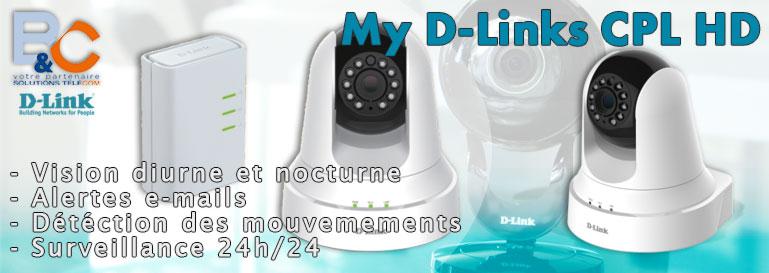 Caméra mydlink CPL HD vision de jour et de nuit - Diodes infrarouges intégrées