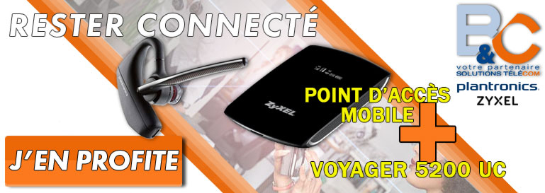 Pack Voyager 5200 UC + Point d'accès WAHM7706