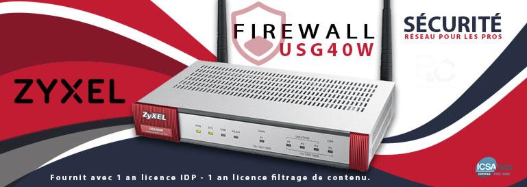 Firewall USG40W, sécurité réseau pour les pros
